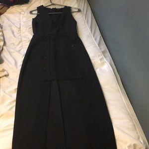 Beautiful long leg cut out dress
